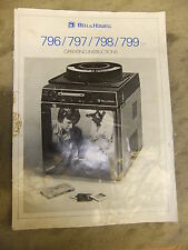 Instructions slide projector BELL & HOWELL 796 797 798 799  CD/EMail