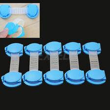5 Chiusura Blocco Fascetta per Armadi Cassetti Finestre Sicurezza Bambini Blu