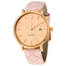 Kate Spade Metro Rose Dial Pink Leather Ladies Watch 1YRU0845