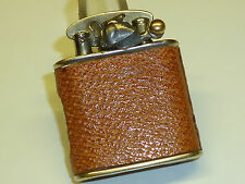 "COLIBRI SEMI-AUTOMATIC LIGHTER ""KICKSTARTER"" WITH LEATHER COAT -1930 -SWISS-MADE"