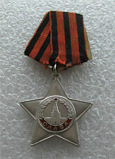 Russian silver enamel order of Glory medal badge III class - FOR BRAVERY