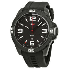 Tommy Hilfiger Black Dial Black Silicone Rubber Mens Watch 1791090