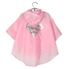 New Kids Boys & Girls Superhero Poncho Raincoat Rain Coat Age 3 4 5 6 7 8 Years