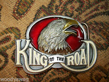King Of The Road Belt Buckle nos Eagle England Free Ship USA Motorcycle Metal