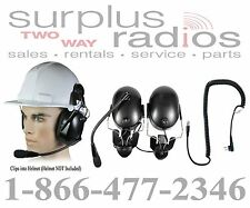 Pryme Headset Construction Hard Hat Motorola Radio CP200 CP150 PR400 CP185 BPR40