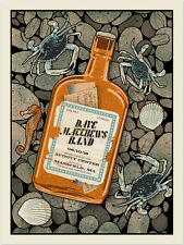 2016 DAVE MATTHEWS BAND MANSFIELD WHISKEY BOTTLE CONCERT POSTER 6/10 #/885 S/N