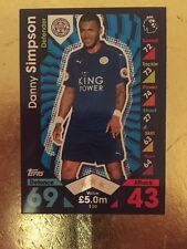 Match Attax temporada 16/17 Leicester City #130 Danny Simpson