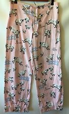 Nick & Nora Medium M Pajama Pants Drawstring Pjs Pink Counting Sheep Lounge