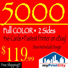 5000 Full Color 4x6 14PT Postcards / Flyers -Double Sided- Best Price on eBay!!!
