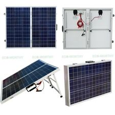200W 12V Portable Folding Solar Panel Charging Kit For Camper Caravan Boat Yacht