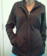 Nine West Women's Brown tapered waist Jacket Hood Belted sides SMALL