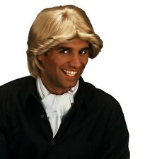 Mens George Michael Wig 70s 80s 90s Wham Boy Band Fancy Dress Mullet Curl