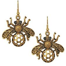NEW KIRKS FOLLY BUZZING AROUND BEE EARRINGS GOLDTONE