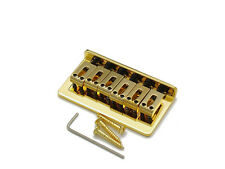 Fender Strat Style String Thru Bridge Brücke Steg Saitenhalter 10,8 mm Gold