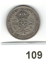 1942 George VI  Florin/ Two Shillings 2/- 50% Silver