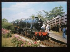 POSTCARD STAINER CLASS 8F LOCO NO 8431 AT HAWORTH STATION