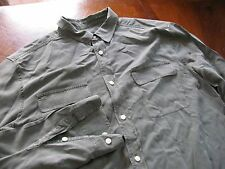Equipment Sz L Olive SILK Long Sleeve Button Down Men's Shirt
