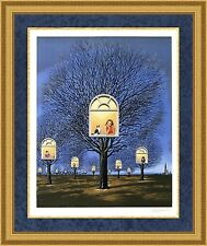 Rafal Oblinski Signed & Numbered Hand Pulled Lithograph Custom Framed Beautiful