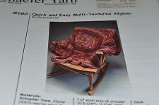 Schaefer Knitting Pattern 280 Quick Easy Multi-Textured Afghan