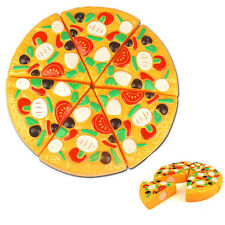 Cute Kids Childrens Wooden Pizza Slices Toppings Pretend Kitchen Play Food Toy