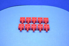 LEGO 10 x Technik Verbinder Stein 2x2 Noppen mit 1 Pin ohne Achsloch rot 4730