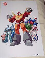 1986 G1 Transformers the Movie Autobots Poster 11x17 Rodimus Kup Arcee FREESHP