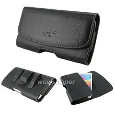 Belt Clip PU Leather Folio Case Cover For Samsung Galaxy S3 S4 S5 HTC One X