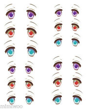 Obitsu 27cm Body 1/6 Dollfie Doll head Eye Decal Sticker 32 (12 pairs) ** NEW **