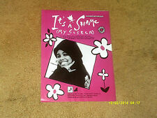 "Monie Love sheet music It's a Shame (My Sister) '90 4 pages (""GOOD PLUS"" shape)"