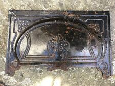 Fireplace Hood Antique Brass Art Nouveau Design Cast Iron Fireplace