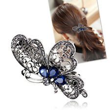 Fashion Luxury Crystal Blue Butterfly Hair Clip Hairpin For Women Girls Gift Hot