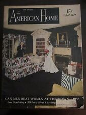 American Home Magazine April 1944 Can Men Beat Women at their Own Jobs (D)