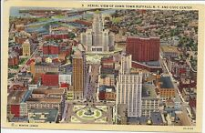 Aerial View of Down Town Buffalo, NY postcard