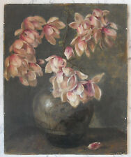 Magnolien in Blumenvase um 1910 unsigniert