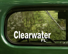 Clearwater Florida Decal Sticker (2) for Car, Truck, Laptop