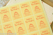 HAPPY BIRTHDAY stickers kawaii zakka gift baking cupcake product craft labels