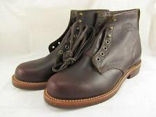 "Chippewa for J Crew Plain Toe Leather Service Boots 6"" Mens 9.5 1901 1901J25 NEW"