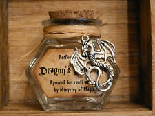 Dragon's Blood Inkwell potion bottle glass jar. Harry Potter Party Favour box