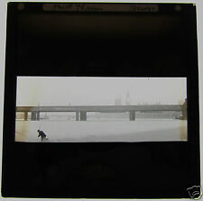 Glass Magic lantern slide THE HUNGERFORD BRIDGE LONDON C1900 ENGLAND