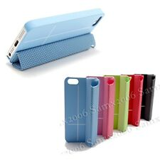 Mini Magnetic Smart Cover Case  for Apple iPhone 5 5S SE - Blue - See Demo Video