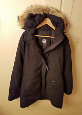 Canada Goose 'Trillium' Down Parka Coyote Fur Womens Jacket Black XL MSRP $900