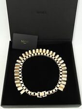 MAWI Gold Tone Necklace -BOXED - As on Rihanna & Olivia rrp495GBP