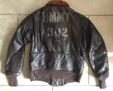Viêt Nam War Stenciled G-1 Flight Jacket Marine Corps Helicopter Training USMC