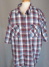 Rocawear Black White Red Plaid Shirt Big & Tall 5XB 5XL NWT $50 Sweet Old Stock