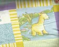 Play Day Pond patchword children's David flannel fabric