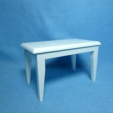Dollhouse Miniature White Rectangle Kitchen / Dining Room Table ~ CLA10211