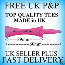 40 Pink Plastic Castle/Step/Grad Golf Tees: Tee up Height 39 mm FREE P+P to UK