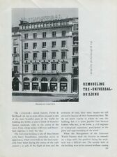 1949 Universal Geneve Watch Company Building Remodel Swiss Magazine Article