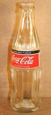 Coca-Cola Paper Label Hobbleskirt Bottle, Switzerland, 1983, Clear Glass, No Cap