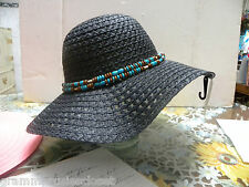 BLACK  SUN HAT MADE OUT OF PAPER ALWAYS SPRINGS BACK TO SHAPE